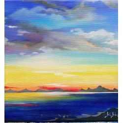 concerto di colori olio su tela cm 30*30
